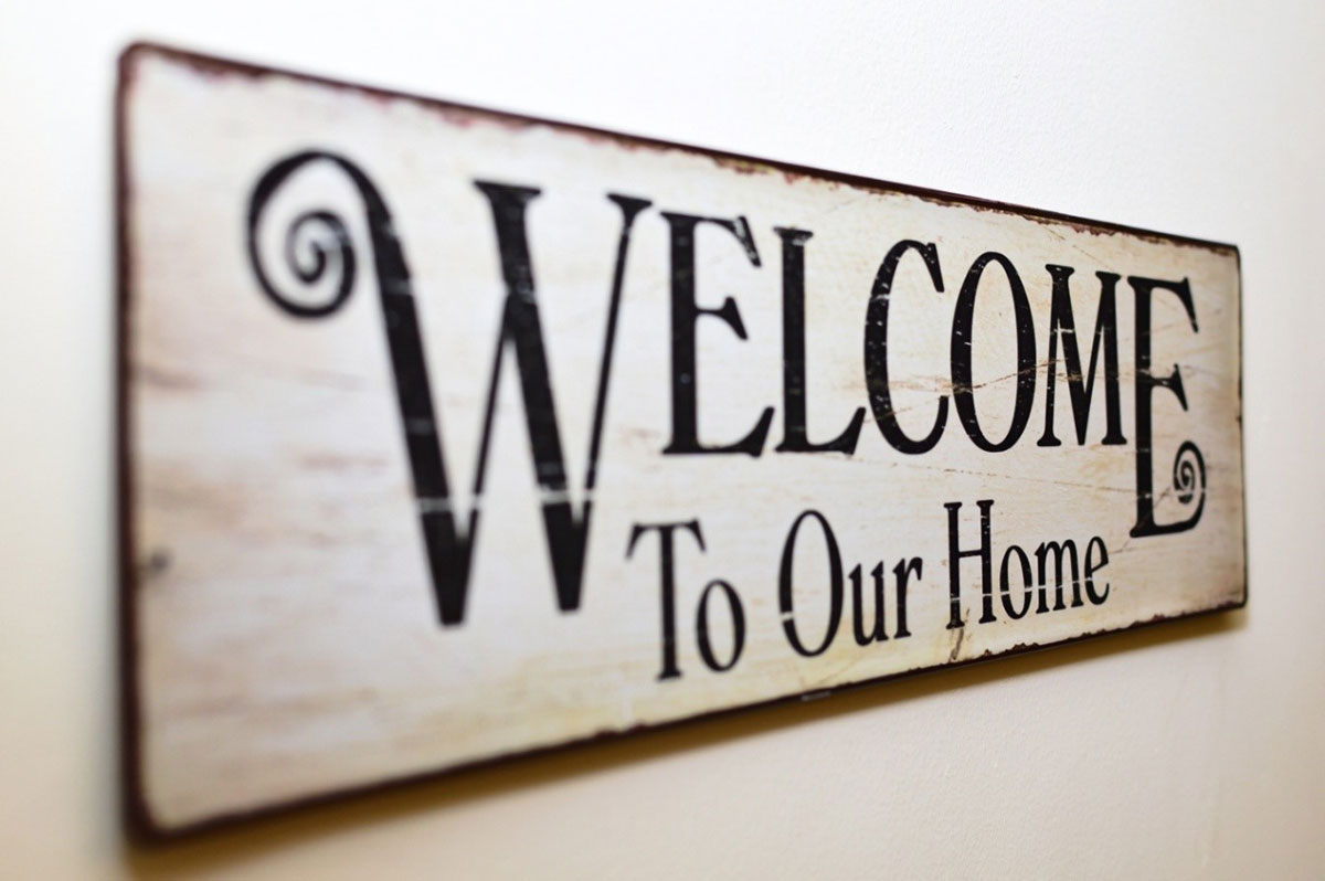 welcome to our home graphic